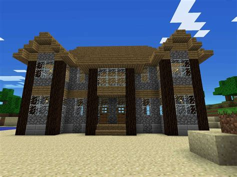 cool minecraft house ideas easy  modern  survival style