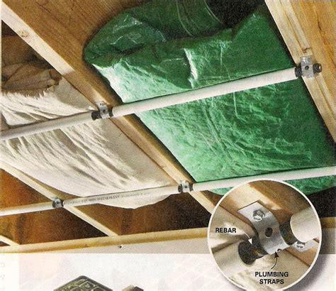 rafter tarp storage diy storage shed