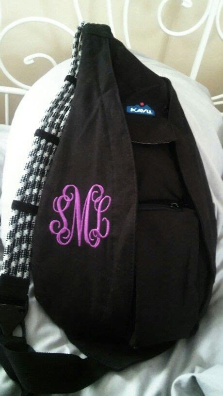 monogrammed kavu rope bag  style pinterest
