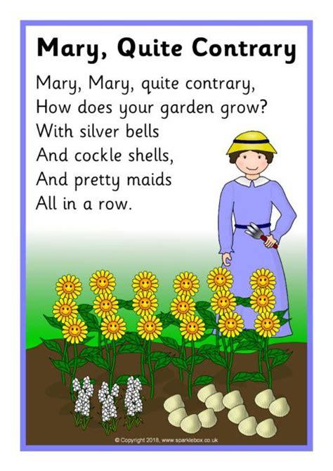 mary  contrary song sheet sb sparklebox