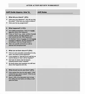 sample after action review template 7 documents in pdf With aar format template