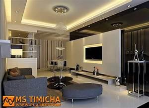 faux plafond platre 2017 design salon moderne Ms Timicha Décoration Marocaine