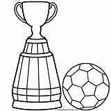 Soccer Coloring Ball Pages Trophy Cup Colouring Drawing Easy Player Trophies Clipart Clip Steps Getdrawings Boys Clipartmag sketch template