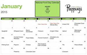 National Food Day Calendar 2015