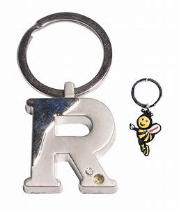 oyedeal alphabet letter r shape key chain silver buy With letter keychains silver