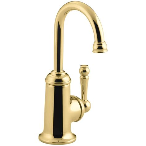 restaurant kitchen faucet kohler revival 2 handle bar faucet in vibrant polished