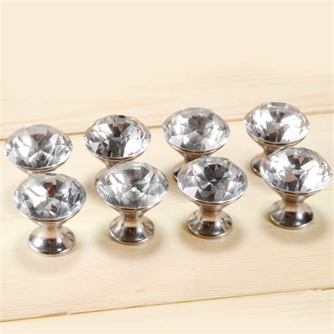 glass cabinet door knobs 8 x crystal glass clear cut door knobs drawer cabinet
