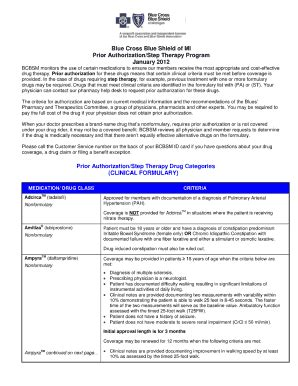 bcbs prior authorization form michigan fill