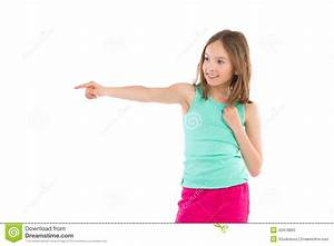 Little girl pointing stock image. Image of childhood ...