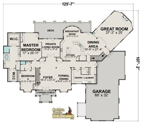 house plans with great kitchens log homes and log home floor plans cabins by golden eagle