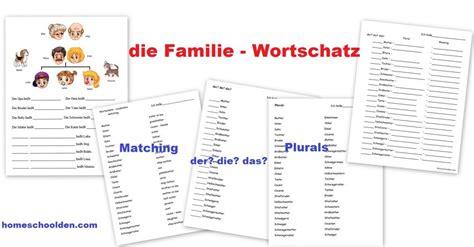 German Family Vocabulary Practice  Die Familie  Homeschool Den