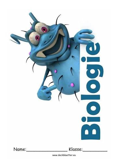 Biologie Deckblatt Deckblaetter Ausdrucken Schulfach Vorlagen Schulbeginn