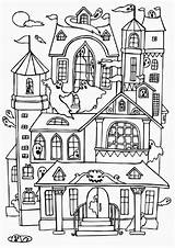 Coloring Haunted Houses Ghost Many Pages Colouring Halloween Colorluna Sheets Printable Spooky sketch template