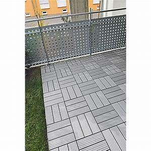 Wpc Klick Fliesen : rettenmeier wpc klickfliese grau 30 x 30 cm 4er pack bauhaus ~ Markanthonyermac.com Haus und Dekorationen