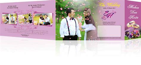 contoh desain  banner pernikahan fontoh