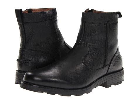 Black Boots : Florsheim Men's Trektion Leather Zipper Black Boots 18608