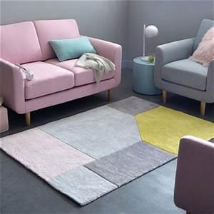 la deco en rose poudre c39est tendance deco coolcom With tapis de sol avec canapé convertible rose poudré