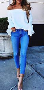 White ruffle off tu2026 | Style + Fashion Inspiration by Nicole to the Nines | Fashion + Style ...