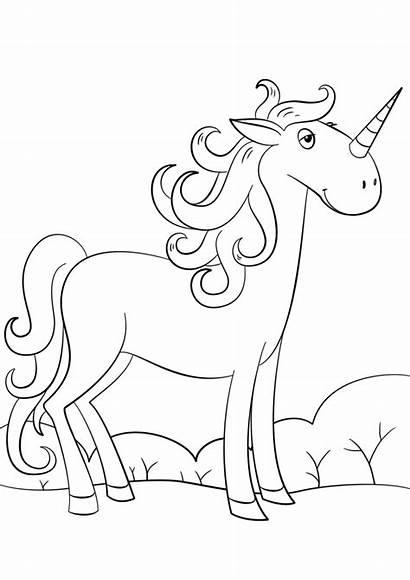 Unicorn Unicornio Coloring Colorir Unicornios Colorear Cartoon