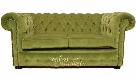 green settee chesterfield 2 seater settee green fabric sofa offer