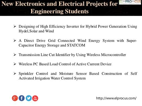 New Electronics Electrical Projects For Engineering