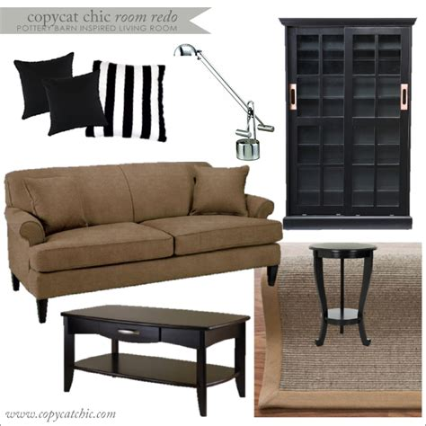 Pottery Barn Inspired Living Room by Copy Cat Chic Room Redo I Pottery Barn Inspired Living