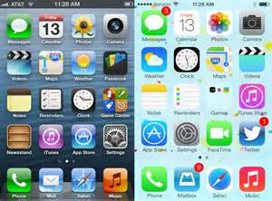 new iphone home screen ios 6 versus ios 7 apps business insider