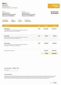 zoho invoice templates invoice template ideas With zoho invoice free