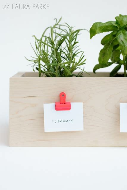 diy small herb planter box objects of desire