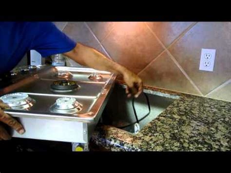 diy   replace  gas cooktop youtube