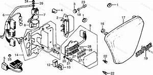 Honda Motorcycle 1977 Oem Parts Diagram For Left Side
