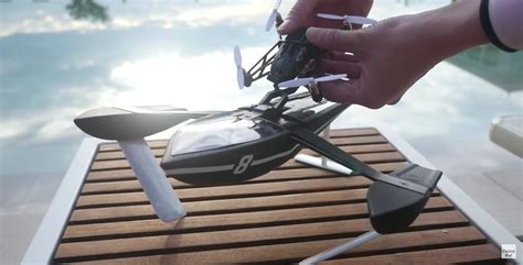 parrot hydrofoil drone   boat  flying machine autoevolution