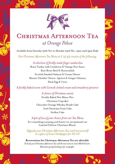 christmas high tea menu pictures to pin on pinterest pinsdaddy