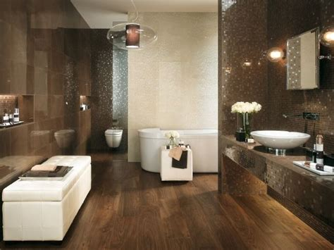 bad design fliesen luxus bad design beige braun mosaik fliesen spiegel effekte badideen