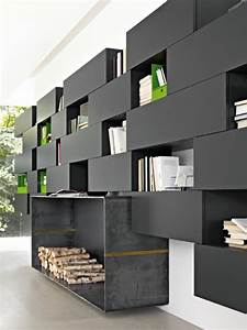 Bibliothèque Design Pas Cher : meuble design unique modules forte piano de molteni etagere noire meuble ~ Teatrodelosmanantiales.com Idées de Décoration