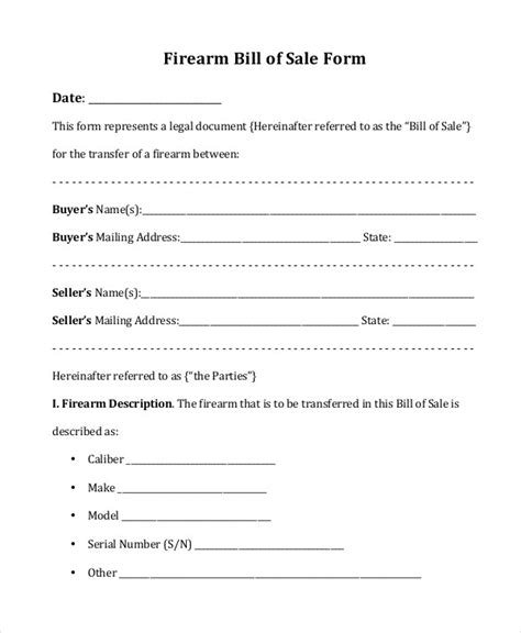 bill  sale form   word  documents