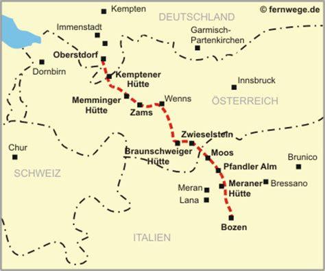 die karte   europaeischer fernwanderweg oberstdorf