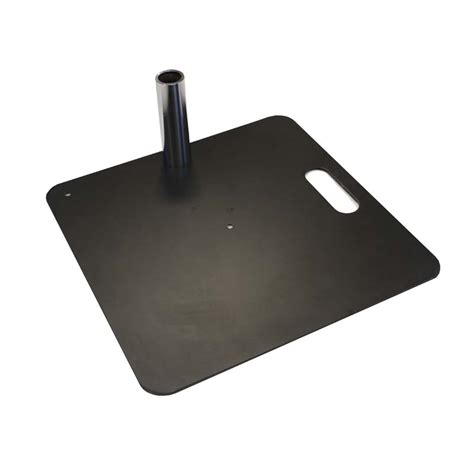 Pipe And Drape Base - curtain call pipe and drape 450 x 450mm black base plate