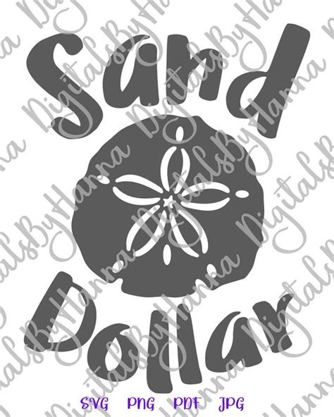 The format of some files is incorrect. Beach SVG Files for Cricut Sand Dollar Clip Art Sea ...
