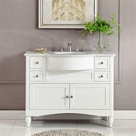45 single sink bathroom vanity 45 inch single sink contemporary white bathroom vanity
