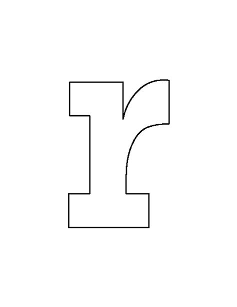 printable lowercase letter stencils lowercase letter r pattern use the printable outline for