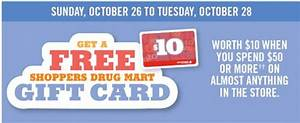 Shoppers Drug Mart Canada Offers: Get A FREE $10 Gift Card ...