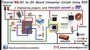 Dc To Dc Boost Converter Circuit Using 555  Tutorial   85