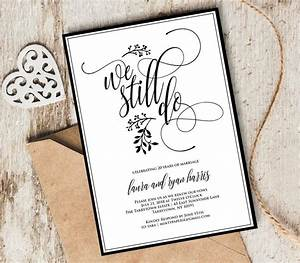 Vow renewal invitation template we still do instant for Wedding anniversary images download