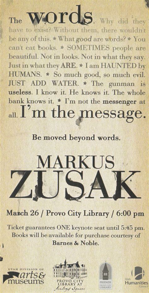 Markus Zusaks Quotes Famous And Not Much Quotationof Com