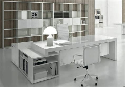 bureau design contemporain bureau blanc laque pas cher uteyo