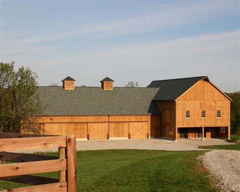 Pole-barn-with-living-quarters-exterior-rustic-with-barn