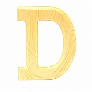 wood letter quotdquot walmartca With wood letters to paint walmart