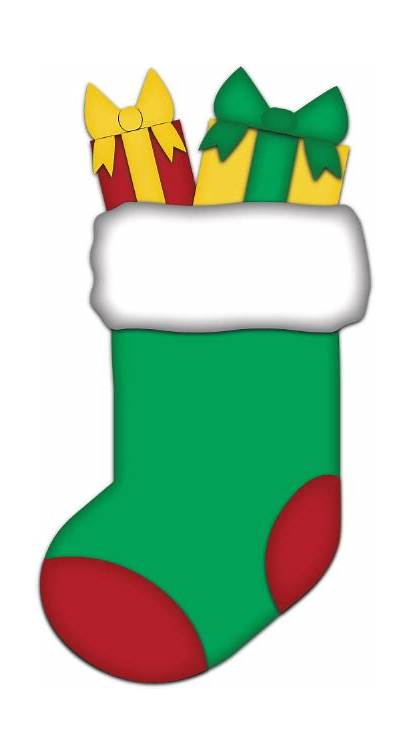 Stocking Christmas Clip Clipart Stockings Cliparts Printable