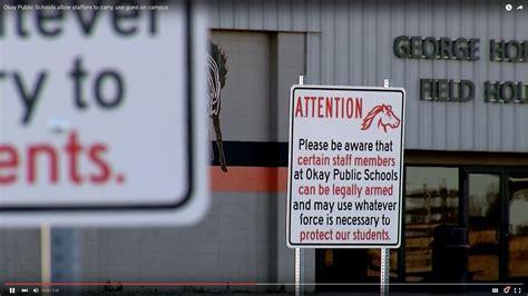Oklahoma School District Posts Signs Warning That School